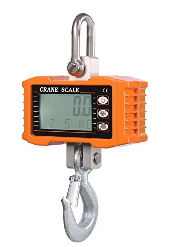Klau 1000 kg 2000 lb Aluminum Digital Industrial Crane Scale Heavy Duty Hanging Scale orange
