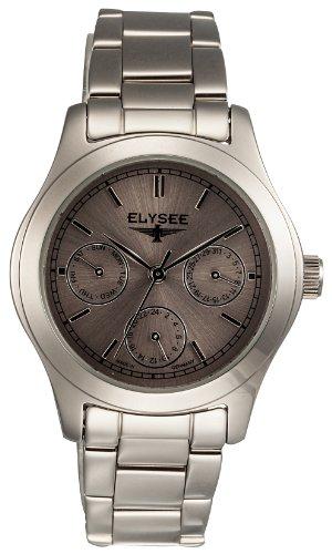 Elysee 84019 - Reloj analógico de mujer de cuarzo con correa de acero inoxidable plateada - sumergible a 30 metros