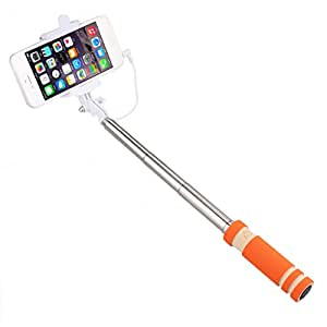Jiyanshi Celkon Campus A125 Compatible Selfie Stick/Foldable All In One Monopad (Orange)