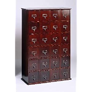 Leslie Dame Enterprises Library Style CD Storage Cabinet,Walnut
