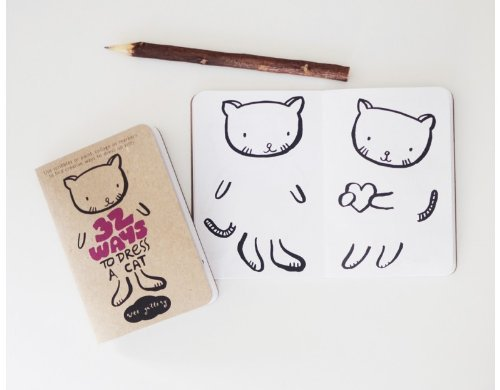 Wee Gallery Activity Book, 32 Ways to Dress a Cat