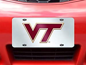 Buy FANMATS NCAA Virginia Tech Hokies Plastic License Plate (Inlaid) by Fanmats
