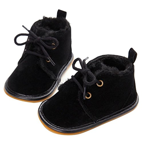Baby Boys Winter Slip-on Oxford Sole Snow Boot Prewalker Crib Shoes