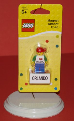 I Love Orlando LEGO Magnet Boy Minifigure with Baseball Cap - 1