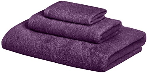 AmazonBasics Quick-Dry 3-Piece Towel Set, Lavender (Three Piece Shower compare prices)