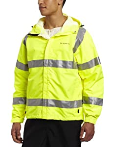 Grunden's Men's Gage Weather Watch Ansi Certified Jacket, Hi Vis Yellow, Small