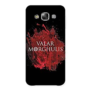 Delighted Valrmorghu Multicolor Back Case Cover for Galaxy E7