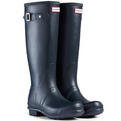 Women's Hunter Boots Original Tall Snow Rain Waterproof Boots - Blue - 5