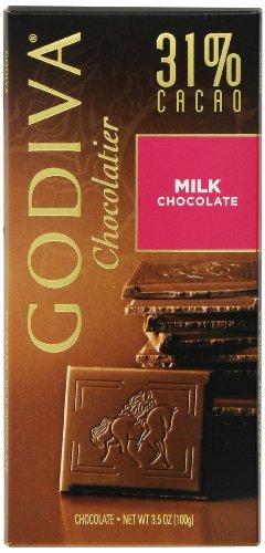 新补货:GODIVA 歌帝梵 牛奶巧克力 100g*5包 $12.86