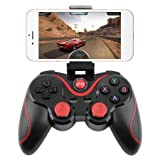 Obecome T3 Bluetooth Wireless Game Controller Gamepad Joystick for Smart Phones/Tablets/TVs/TV boxes(BLACK) (Color: black)