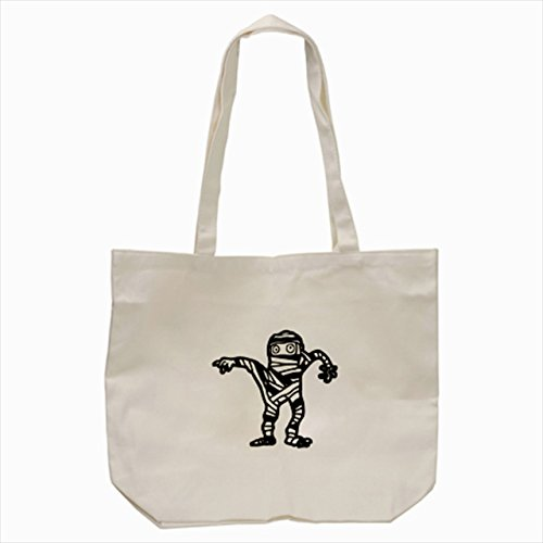 [big black mummy ghost Tote Bag Cream color] (Dog Costume Carrying Gift Video)
