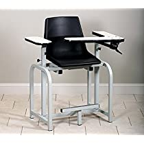 CLINTON STANDARD LAB SERIES BLOOD DRAWING CHAIRS Xtra tall with plastic seat Item# 6011-P