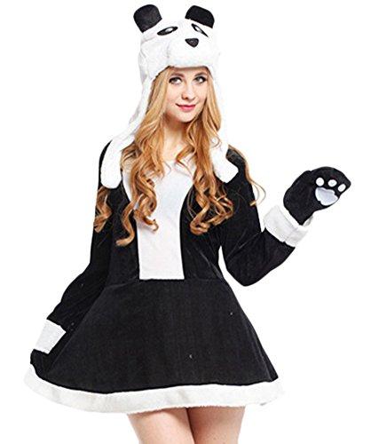Adult Women's Halloween Deluxe Cute Funny Animal Panda Costume (One Average Size) (Sexy Panda Costume)