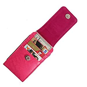 DooDa PU Leather Pouch Case Cover With Magnetic Closure For iBall Cobalt4