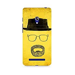 Motivatebox- Minimalist Heisenberg Premium Printed Case For Asus Zenfone 5 -Matte Polycarbonate 3D Hard case Mobile Cell Phone Protective BACK CASE COVER. Hard Shockproof Scratch-
