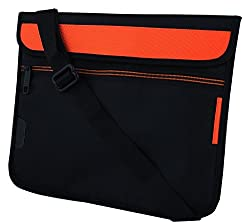 Saco Stylish Soft Durable Pouch for Acer Aspire Switch 10 SW5-012-152L Laptop (NT.L4SSI.002) with shoulder strap - Orange
