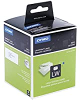 Dymo LabelWriter Etiquettes Adresses Grand Format 36x89mm - Noir sur Blanc