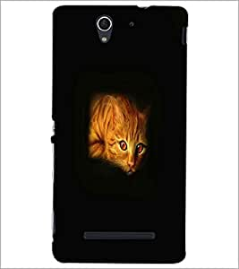 PRINTSWAG CAT Designer Back Cover Case for SONY XPERIA C3