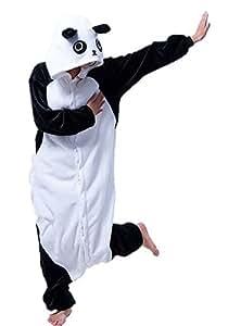 Samgu-Kung Fu Panda animal Pyjama Cospaly Party Fleece Costume Deguisement Adulte Unisexe (L(hauteur:170-180cm))