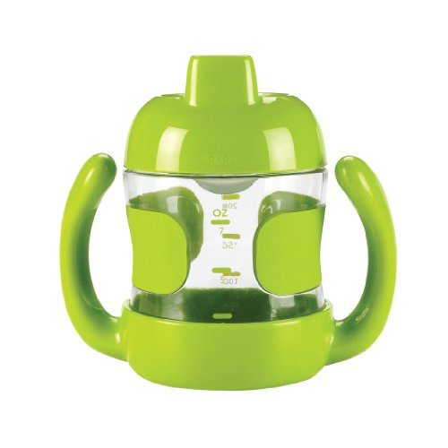 OXO Tot Sippy Cup with Handles, Green, 7 Ounce