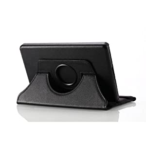 MoKo 360 Degrees Rotating Stand Case for Amazon Kindle Fire, BLACK