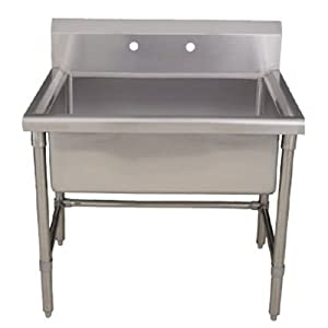 Stainless Steel Freestanding Utility Sink : ... Freestanding Laundry/Utility Sink, Brushed Stainless Steel - - Amazon