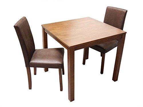 SAM-Massive-3tlg-Tischgruppe-Essgruppe-Tom-nussbaumfarbig-gelt-im-Antik-Look-aus-Massivholz-Sitzgruppe-bestehend-aus-1-x-Tisch-Tom-2-x-Esszimmerstuhl-Billi