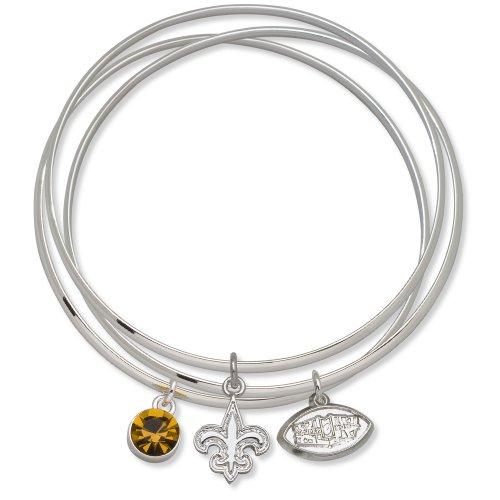 New Orleans Saints Super Bowl XLIV Champions Triple Bangle Bracelet