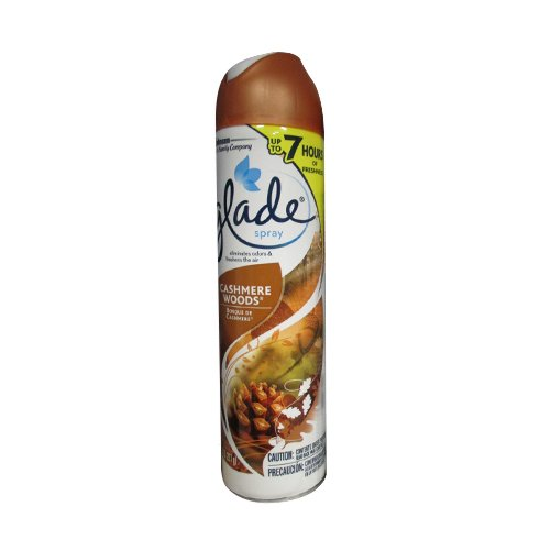 Glade Air Freshener Spray - Cashmere Woods - Net Wt. 8 OZ (227 g) Each - Pack of 3 (Air Freshener Prime compare prices)