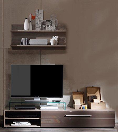 wohnwand sofie trend tv hifi schrank lowboard anbauwand schrank braun hochglanz m belrado. Black Bedroom Furniture Sets. Home Design Ideas
