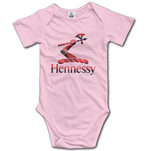 red-metal-hennessy-xo-logo-baby-romper-short-sleeve-babysuit-baby-onesie-for-boy-girl-pink-12-months