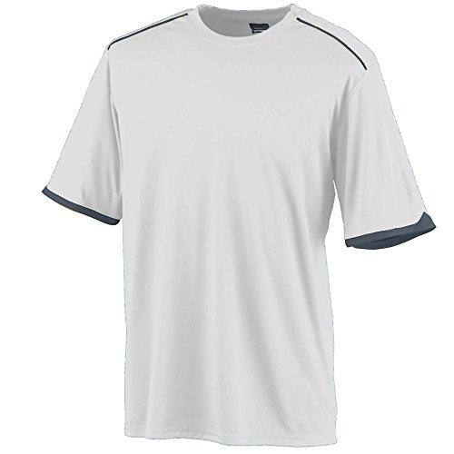 BOYS' MOTION CREW Augusta Sportswear L White/Graphite