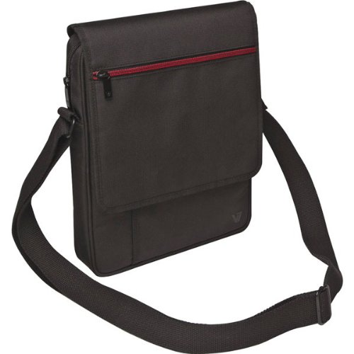 V7 Over Shoulder Shock and Water Resistant 10.1-Inch Tablet Messenger Bag for Apple iPad / iPad 2, Google Nexus 9, Amazon Fire, Lenovo IdeaTab / Yoga, Samsung Galaxy Tab 4 / Note, mobile devices – (TD21BLK-1N) – BLACK image