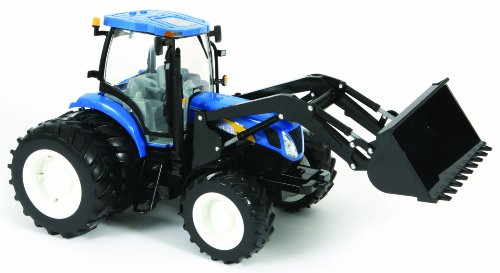 Big Farm New Holland T7050 Tractor With Dual Wheels And Loader