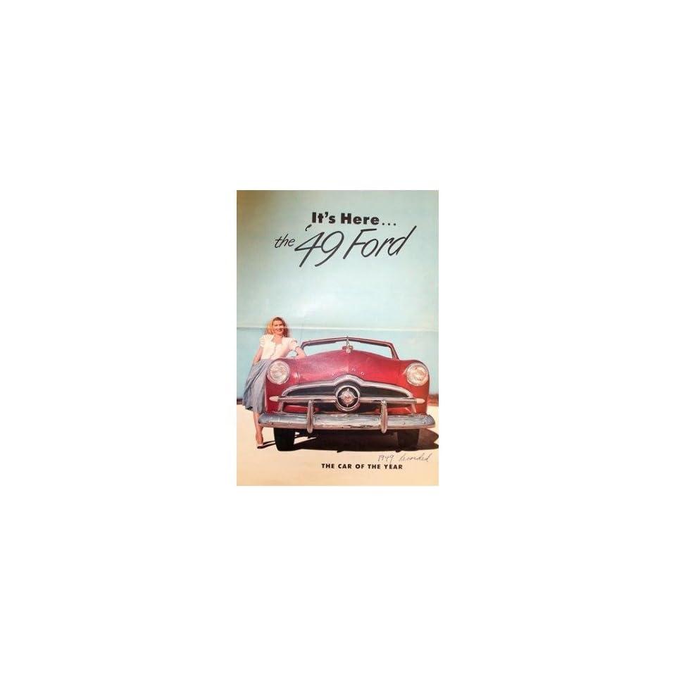 1949 Ford Sales Brochure Literature Book Piece Advertisement Specs Options