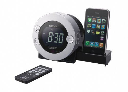 Sony ICF-C7IP Clock Radio for iPod and iPhone with Hidden Sliding Dock Tray