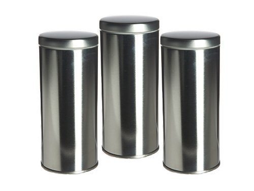 "6"" Tall Tea Tin With Airtight Lids - 3 Pack"