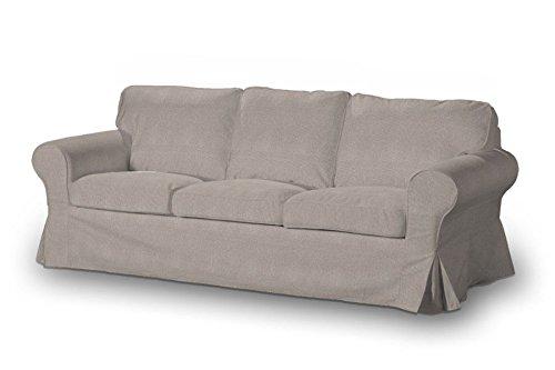 FRANC-TEXTIL-633-705-09-Ektorp-3-Sitzer-Schlafsofabezug-altes-Modell-Etna-beige-grau