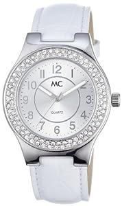 MC 50325 - Reloj de mujer de cuarzo, correa de piel color blanco