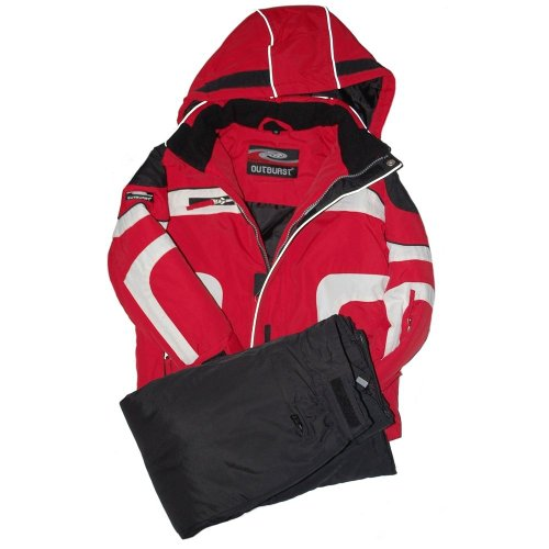 Outburst - ski-set, anorak + skipants, boys, red