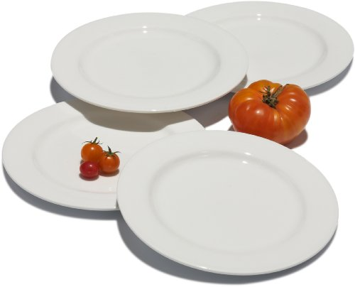 Tom Douglas Commercial-Grade 7-3/8-Inch White Salad Plates, Set Of 4