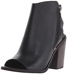 Steve Madden Women\'s Terraa Boot, Black Leather, 9 M US