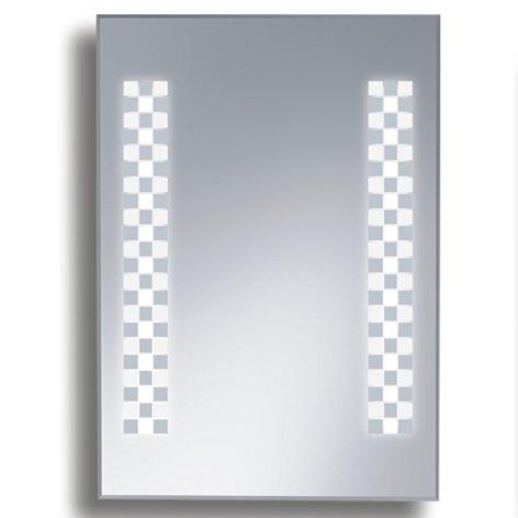 Badspiegel BELEUCHTET Wandspiegel BELEUCHTUNG Spiegel LICHT Badwandspiegel aus Kristall YJ-1033F