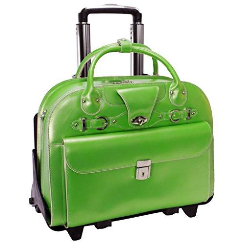 mcklein-usa-w-series-roseville-fly-through-rolling-handbag-for-women-in-green