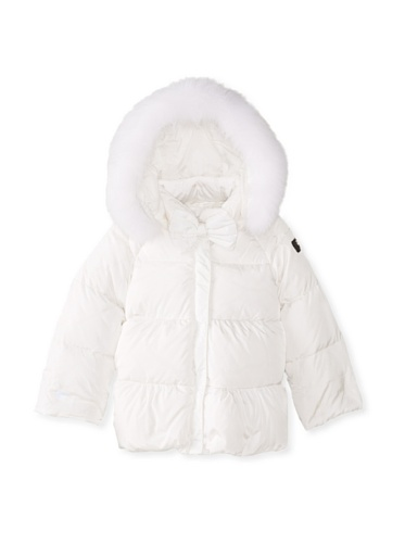 Il Gufo Kid's Down Jacket with Fur Hood