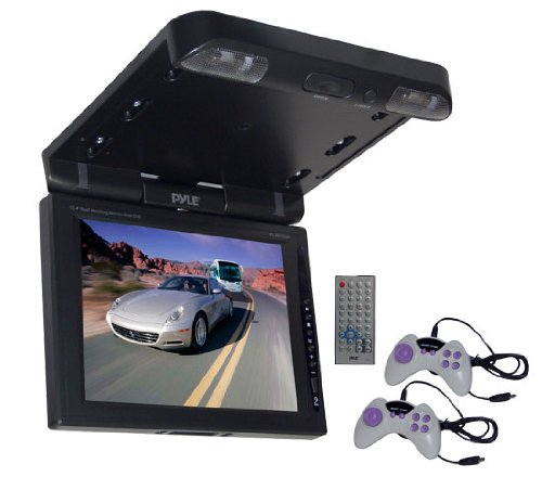 PYLE PLRD103F 10.4-Inch TFT LCD Roof Mount DVD Monitor and IR/FM Transmitter