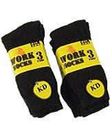 KD 12 Pairs Men's Work Socks Re-inforced heel & Toe 6-11