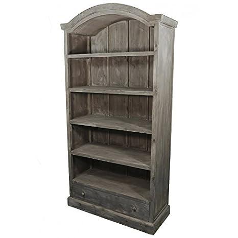 Grande Libreria Scaffale di vetrina vaisselier in legno a 5piani, 41x 101x 198cm