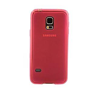 iProtect TPU Schutzhülle Samsung Galaxy S5 Mini Hülle Soft Case rot
