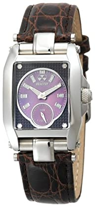 REACTOR Women's 97319 Fusion Chocolate Pearl Dial Crocodile Strap Watch